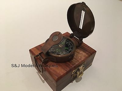 Soldiers Military Thumb Compass Vintage Brass WW2 1940 Navigation World War II 4
