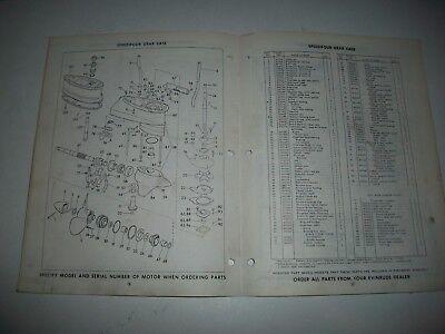 "1963  Evinrude (Johnson) ""speedifour""  75 Hp Outboard  Parts List Catalog"