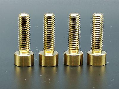 4Pcs Ti Titanium  Rainbow Socket Head Bolts Disc Brake Adapter Mount M6x20mm