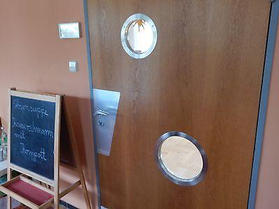 Türbullauge 40 cm Edelstahl Zimmertür Bullauge Rundfenster edles Design