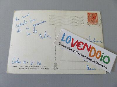 Cartolina Epoca OSTIA LIDO lungomare Toscanelli Viaggiata 1956 2