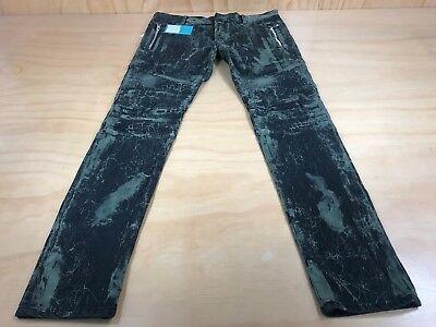efd873c72 ... Balmain Acid Washed Stretch Denim Biker Jeans Olive Black Men's 32  Inseam 32 New 2