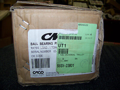 CM Universal Trolley Ball Bearing Plain Trolley 1 Ton 03-16-121281 New