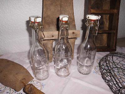 Dänemark Shabby Deko Glasflaschen Flasche Antik Denmark Alt 3 Stück 🌷🌷🌷 2