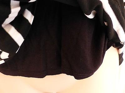 Wallis size 12 black and white striped jersey faux wrap top black vest 9