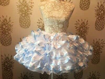 Made To Measure * Sissy Maid * Huge Ten Layer Satin And Organza Petticoat 5
