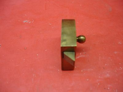 Vintage Antique Original Concealed Release Trigger Brass Latch Hardware 7