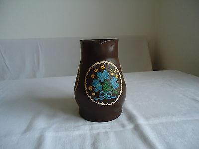Milchkanne Kanne Vase Trockenblumen Gesteck Metallkanne Dekoration handbemalt 2