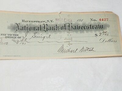 Nacional Banco de Haverstraw New York Original Banco Cuadros 1914 2