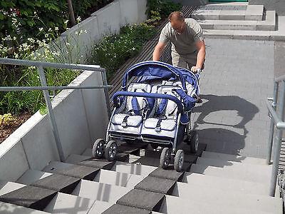 Türschwellenrampe Set Excellent 250/45 mm Türschwelle Rollstuhl Gehhilfe Roller