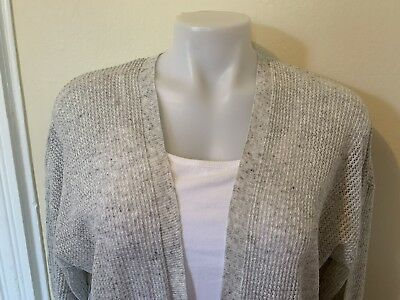 Gap Open Stitch Open Front Cardigan Thin Women`s Sweater fresh coral Msrp$45 NWT