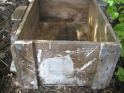 Antique Primitive Ct Country Hardware Store Wood Box Clark Bolt Co Usa Tool Sign 4