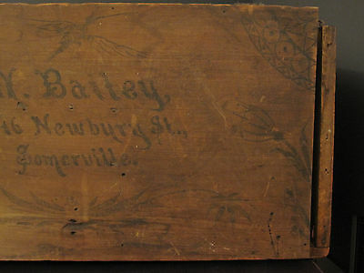 Antique Victorian American Folk Art Painted Trunk Bailey Somerville Ma Boston 8