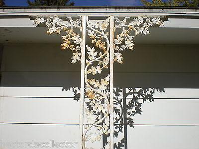 SALE Antique Cast Iron Porch Post Corbells Acorn Oak Leave Architectural Salvage 3