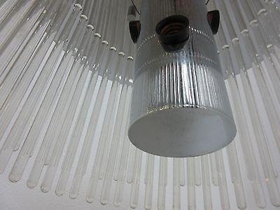 Vintage Mid Century Lightolier  Swizzle Sticks Hanging Light Chandelier Lamp 7
