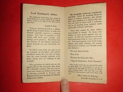 JE986 Vintage WWI Card Lord Kitchener's Advice 1914 2