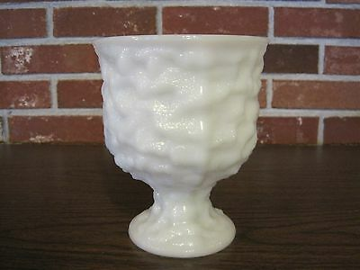 Vintage E O Brody Co Cleveland Ohio Milk Glass Pedestal Footed