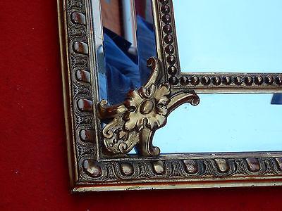 Miroir style régence a coquille parecloses doré a l or 113 x 83 cm 1880'