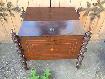 Antique Early 19th Century Inlaid Mahogany Sarcophagus Shaped Wine Cellarette 2