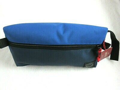 Levi Strauss Zip Up Travel Kit Toiletry Bag Dopp Kit Blue Red Free Ship NWT NR 2