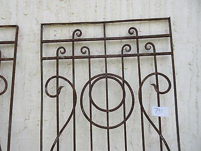 Antique Victorian Iron Gate Window Garden Fence Architectural Salvage #791 2