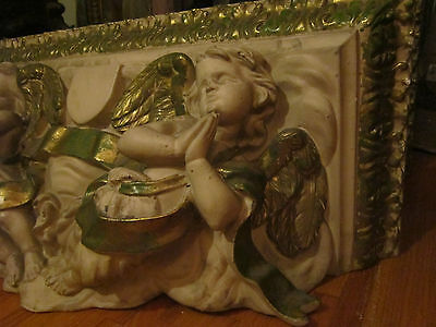 Antique Architectural Plaster Putti/cherubs Corbel/Shelve/freeze Church element