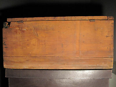 Antique Victorian American Folk Art Painted Trunk Bailey Somerville Ma Boston 10