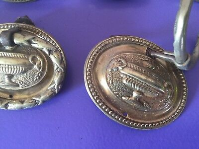 Good Vintage Set Brass Drawer Handles X 14. 3