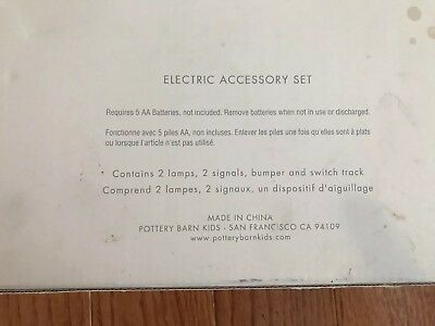 Pottery Barn Kids Electric Accessory Wooden Train Set Fits Thomas And Brio NEW 4