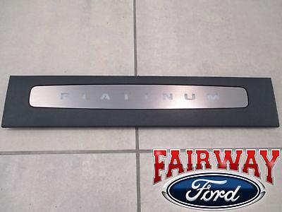 OEM NEW 2015-2018 Ford F-150 Black Platinum Door Sill Plates for Super Crew Cab