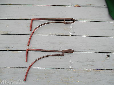 Antique 1800's  Equestrian Hand Forged Iron Tack Saddle Rack Horse 2