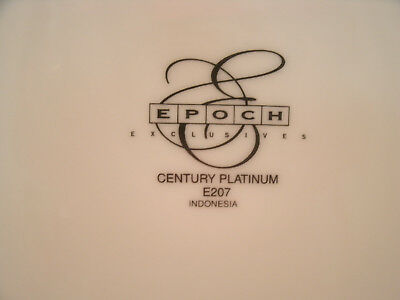 Epoch CENTURY PLATINUM 4 Replacement Tea Cup Saucers (only) #E207 Encrusted Band 4