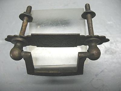 Brass  Drawer  Pull  Eastlake  Solid Brass  Complete  Vint Orig. 2
