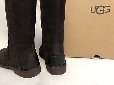 17649793c0a UGG AUSTRALIA ELLY Stout Brown Tall Nubuck Boots 1017505 Wool Lined sizes  womens