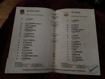 1988-England V Wales-Five Nations-International Rugby Union Programme-Good 2