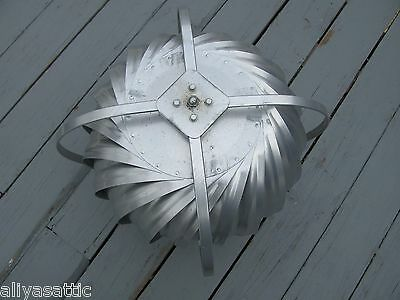 "Quality Wind Turbine Cooling Fan Roof Mount NOS Wisper Cool Made in USA 12"" V 2"