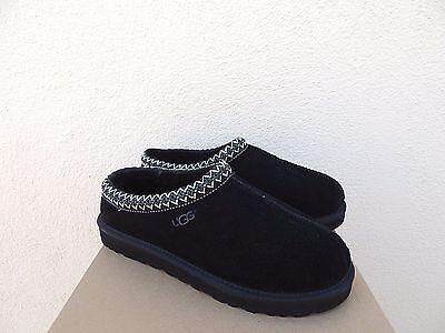 56ff287291f UGG TASMAN BLACK Suede/ Sheepskin Slippers/ Shoes, Mens Us 8/ Eur 40.5 ~ Nib