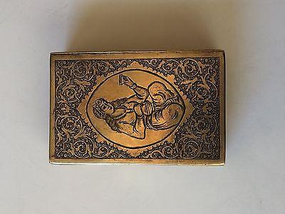 Classic Cigarette Box - 19th Ct. Persian Qajar - Signature Brass Engraved Design 2