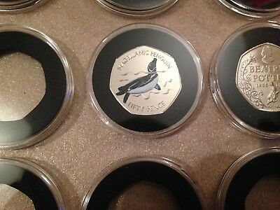 38 or 40 mm ACRYLIC COIN CAPSULES WITH INSERT FOR 50 pence coins(1,5,10,20 pcs) 6