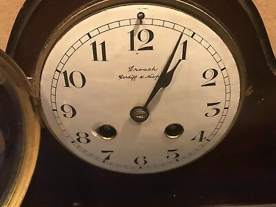 Victorian Mahogany Cased With French Movement Clock 2