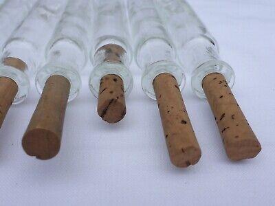 2 x alte kleine Medizin Glas Apotheke Apotheker Flasche klar lang ca. 10,2 cm 7