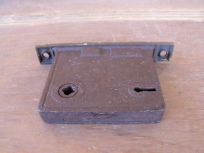 Vintage Hardware Mortise Lock  Brass Latch Plate Use Repair or Parts Re-Purpose 6