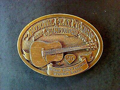 1996 Belt Buckle Walnut Valley Bluegrass Fest Ltd. #28/200 Winfield, KS Bronze 3