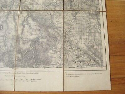 alte Landkarte Karte Nr.469 Annaberg von 1893 auf Leinen 1 : 100000 Marienberg