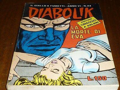 Diabolik Anno Vi Numero 24 Con Adesivi Astorina 1967 Originale - Ottimo !! 12