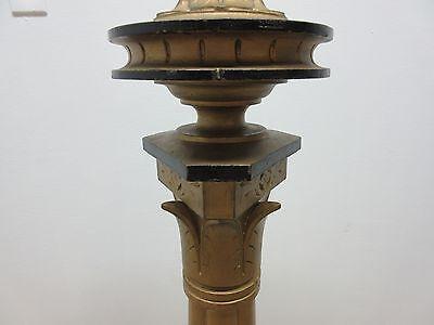 Antique Victorian Masonic Mason Taper Pole Lamp Light Lighting 5