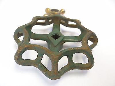 Two Cast Iron & Brass Hose Spigot Knobs Handles Hardware Parts Design Plumbing 5
