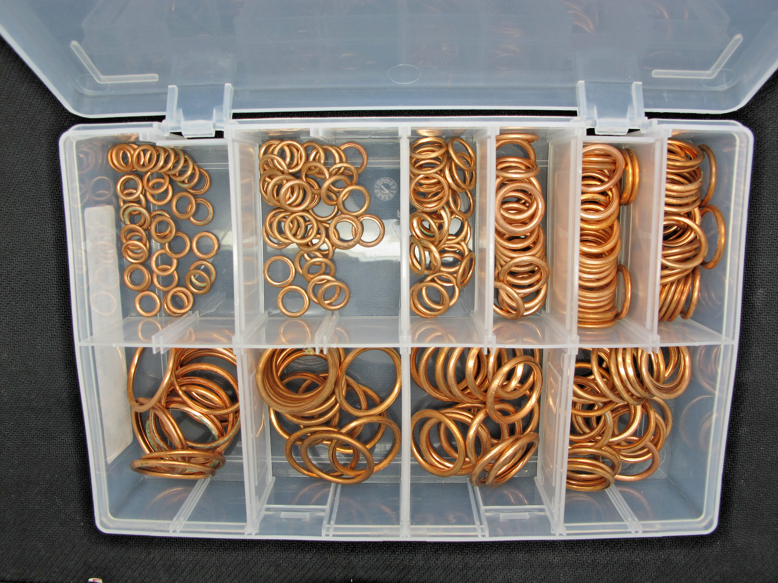 250 Pieces Connect 31885 Assorted Compression Washers Box