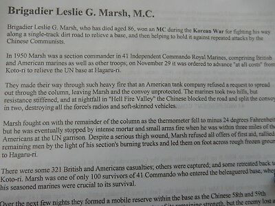 HMS ALBION invite card HERO LESLIE MARSH MC MALAYA