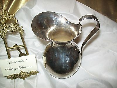 "Antique Wallace Silver Plated EPNS Pitcher 7"" x 5.5"" 3"